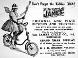 For Boy and Girls of All Ages, the Famous James Bicycles and Tricycles Advertisement Photographic Print