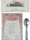 Lusitania Menu Photographic Print