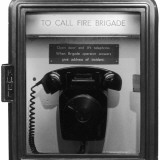 Fire Brigade Telephone Photographic Print by Heinz Zinran
