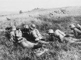 German Cavalry Machine Gun Detachment on the Western Front During World War I Photographic Print by Robert Hunt
