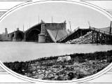 Blown-Up Bridge in Warsaw Photographic Print