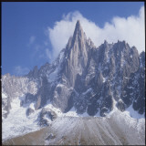 French Alps: the Dru Mountain (3750 Metres High) Viewed from Chamonix Photographic Print