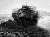 British Tank on the Move; First World War, 1916 Photographic Print