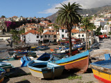Fishing Boats at Camara De Lobos, Madeira Photographic Print