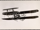Lefebvre in Wright Plane Photographic Print