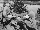 German Medics Using an Oxygen Machine on the Western Front During World War I Photographic Print by Robert Hunt