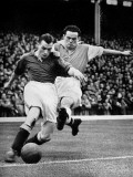 Bryn Jones Tackling Gillick, Arsenal Vs. Everton, 1938 Photographic Print