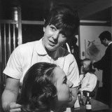 Hairdresser at Work - 1960s Photographic Print by Heinz Zinram