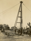 Construction of the Railway at Valley Heights Station, in New South Wales, Australia Photographic Print