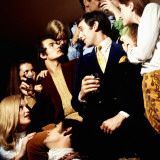 Retro 1970s Party, Entertaining, Socialising, Fun, Gathering Photographic Print