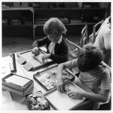 Jigsaw Puzzles at Bramfield Primary School Photographic Print by Henry Grant