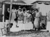 An Edwardian Group Enjoy a Summer Day at the Lido, Venice Photographic Print by Vanessa Wagstaff