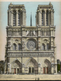 Notre Dame De Paris: Main Facade Photographic Print
