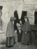 Salvation Army Slum Sisters on a Home Visit Photographic Print by Peter Higginbotham