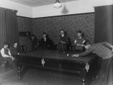 Seven Boys Play a Game of Snooker During an Evening at a Boys Club Photographic Print