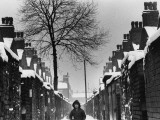 Boy in an Alleyway - Winter - Manchester Photographic Print by Shirley Baker