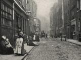 Dorset Street, Spitalfields, East End of London Photographic Print by Peter Higginbotham