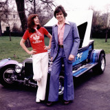 Retro Couple with Custom Made Car 1970s Photographic Print