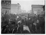 Prospectors Crowd Front Street, Nome, Alaska, at the Height of the Gold Rush Photographic Print