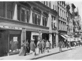People in Nassau Street, New York, Showing Hope's Confectionery Establishment Photographic Print