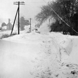 Snow Blocked Road in Kent, 1963 Photographic Print