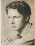 Rupert Brooke English Writer, in 1913 Reproduction photographique