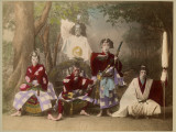Japanese Kabuki Theatre with Actors Wearing Elaborate Make-Up and Costumes Photographic Print