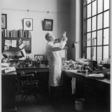 Sir Alexander Fleming - Scottish Bacteriologist at Work in His Laboratory Photographic Print