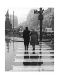 A City Street on a Rainy Day : the Location Is Manchester Photographic Print by Henry Grant