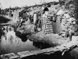 Soldiers in Dugouts at the Third Battle of Ypres During World War I in 1917 Photographic Print by Robert Hunt