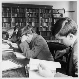 Schoolboys Studying in the School Library Photographic Print by Henry Grant