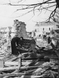 Playing a Piano Amid the Destruction - the Blitz Photographic Print by Robert Hunt