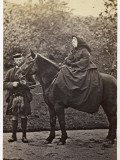 Queen Victoria with Her Highland Servant, John Brown, at Balmoral Photographic Print