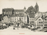 Basle - Switzerland - Barfusserplatz Photographic Print