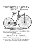 Advertisement for the Rover Safety Bicycle, 1885 Giclee Print