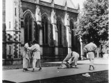 Judo Is Practised in the 'Quad' at Oxford Photographic Print by Henry Grant