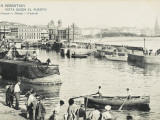 San Sebastian, Spain - a View of the Port Photographic Print