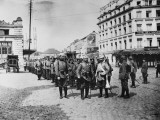 German Infantry Entering Liege During World War I Photographic Print by Robert Hunt