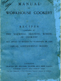 Manual of Workhouse Cookery, Cover Fotografie-Druck von Peter Higginbotham