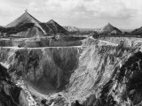 China Clay Quarry Photographic Print