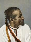 Moroccan - a Recif Man with a Dyed Pigtail and White Tunic Photographic Print