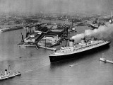 French Liner 'Normandie' Leaving Le Havre, May 1935 Photographic Print