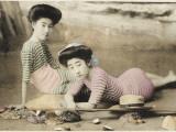 Geisha Girls at the Seaside, Japan Photographic Print