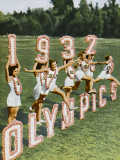 Female Athletes Perform a Routine to Publicise the 1932 Los Angeles Olympics Photographic Print