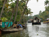 Boats in the Alleppey Backwaters, Kerala, India Photographic Print