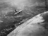 D-Day - Bomber Giving Air Support to Infantry Invasion Photographic Print by Robert Hunt