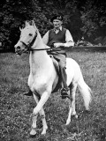 Field-Marshal Montgomery on Horseback, 1945 Photographic Print