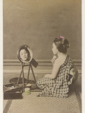 A Young Geisha Applies Her Characteristic Make-Up Photographic Print
