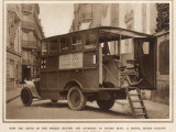 A Mobile Dental Surgery, Belonging to the French Army Papier Photo