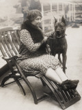 Helen Keller with Her Great Dane Photographic Print